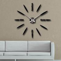 venta al por mayor relojes de pared decorativos horloge murale diy arte d reloj digital espejos