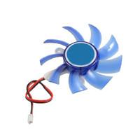 Wholesale vga cooler video card online - YOC New g Blue Plastic PC VGA Display Video Card Heatsink Cooler Cooling Fan