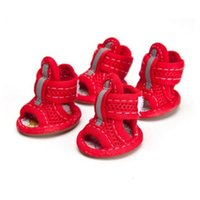 Wholesale Cheap Sandals Wholesale - New Summer Cheap Pet Dog Sandals Good Quality Fabric Mesh Plaid Shoe for Pet Puppy Free Shipping