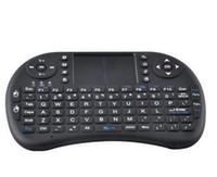 ordinateur portable qwerty achat en gros de-Mini Claviers Sans Fil Gaming Keyboard Anglais Air Mouse USB Clavier QWERTY Touchpad Pour Android TV Box PC Ordinateur Portable