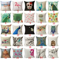Copricuscino in stile uccello Gufo in cotone gufi Flamingo Sparrow Peacock Cuscini decorativi per la casa Cuscino Nordic Simple Brand