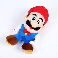 mario hermanos peluches al por mayor-juguetes 20cm Super Mario felpa suave con succión hermanos muñecos de peluche Luigi mario juguetes de peluche de juguete de regalo de SUPER MARIO relleno