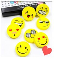 Wholesale Kid Lovely Smile - New Lovely Cute Cartoon Kawaii Eraser Rubber Korean Stationery School Supplies Smile Novelty Kid Gifts Fantastic