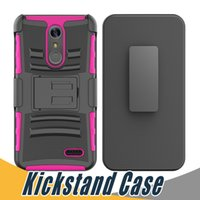 For Apple iPhone blackberry slip case - Customized Kickstand Armor Case PC TPU in Slip Holder For ZTE Max N9520 Max N9521 Kyocera Hydro View C6742 Reach C6743 Torque E6710