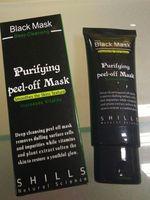 ingrosso purificare la buccia dalla maschera in profondità-Dropshipping Black Aspirazione Maschera Anti-Aging 50ml SHILLS Deep Purificante purificante staccare Black face mask Rimuovere blackhead Peel Masks