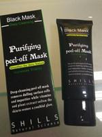purifying peel black mask großhandel-Dropshipping Schwarze Saugmaske Anti-Aging 50ml SHILLS Tiefenreinigung peel off Schwarze Gesichtsmaske Mitesser entfernen Peel Masks