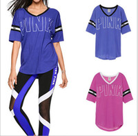 Wholesale New VS Secret Love Pink Women T Shirt printing kawaii Tumblr Instagram Harajuku Punk Teen Girls Tops Tee Clothing Femme Mujer Damen v neck
