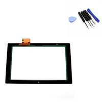 digitalizador xperia z touch al por mayor-Piezas de la pantalla táctil del digitizador para Sony Xperia Tablet Z C6907 SGP321 + Tool