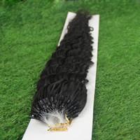 Wholesale Micro Loop Hair Extensions Mongolian - JUFA 50g Micro Ring Human Hair Extensions Mongolian Deep Wave Virgin Hair Micro Loop Links Human Hair 1g 1s Unprocessed Natural Black