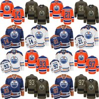 5d7c8fb1b 2017 new 97 Connor McDavid 93 nugent-hopkins 21 Andrew Ference 14 Eberle Edmonton  Oilers NHL Ice Hockey Third Mens Premier Stitched Jerseys
