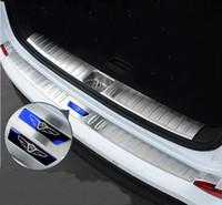 Wholesale Hyundai S - For Hyundai Tucson 2015 2016 2017 Car Trunk Rearguard Covers Internal +External Decoration Bumper Accessories Car-styling