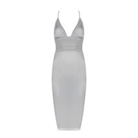Wholesale Low Price Work Dresses - V-neck backless Gray split women dresses with top quality low price whole sale & drop shipping hot skirt for party