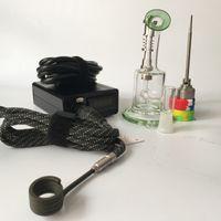 elektronische trockenbox großhandel-Nagel-Kit mit Titan-Nagelheizspule Dry Herbal Digital Electronic Dail nag Dab Dnail Dail Dail E-Nail ENail Wax Vaporizer Box