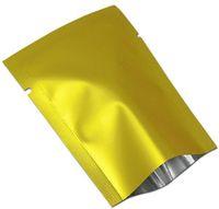 вакуумные мешки бесплатная доставка оптовых-100 шт./ лот золотой матовый тепла печать алюминиевой фольги чай орех конфеты вакуумный мешок мешок открытый топ майлар для партии пакет карман Бесплатная доставка