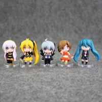 Wholesale Kagamine Len Cute - Cute 5pcs lot Hatsune Miku Kagamine Rin Len Kaito Meiko Mini PVC Action Figure Toy 6cm