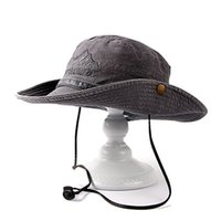 Wholesale Tactical Bucket Hats - 2017New Summer Army Climbing Military Bucket Hat Men Tactical Round-brimmed Sun Hunting Cap Fishing Hat