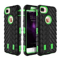 Wholesale Defender Case Camo - For Iphone6 6s 7 7plus case Hybrid defender Rugged robot boxes Cover for Iphone Robot 3 in 1 tyre Camo Style anti shockCase