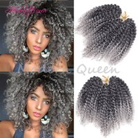 Wholesale Afro Kinky Braiding Hair - 3Pcs Lot Curly Crochet Hair 8'' Freetress Marlybob Afro Kinky Curly Crochet Braids Hair Extensions 12 Colors Synthetic Curly Hair Braiding