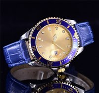 lovers' black leather mens dress watch - luxury flower lady Dress brands women Blue gold face japan quartz movement fashion classic elegant leather strap watches for mens male clock