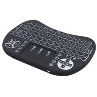 pavé numérique achat en gros de-Conception de flip de 360 degrés Clavier sans fil portable Air Mouse avec touches de contrôle multimédia et touches de contrôle de jeu PC pour PC, Pad, ect