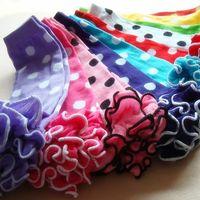 Wholesale Polka Dot Ruffle Leg Warmer - Princess Socks Legging Tights Baby Girls Leg Warmer Socks Polka Dots Pure Cotton Fashion Ruffle Fungus Edge Christmas Kids leggings A6343