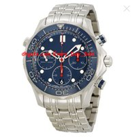 Wholesale Top Brand Divers Watches - Brand New Luxury AAA Top Quality Diver Chronograph Blue Dial Steel Men's Watch Item No. 212.30.42.50.03.001