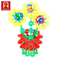 Wholesale top selling products Intelligence children toys snowflake Stitching Construction building blocks with pieces plastic material