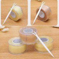 Wholesale Eyelid Strips - Wholesale-New 300 Pairs Fashion Lace Eye Lift Strips Double Invisible Eyelid Tape Adhesive Stickers Makeup Tool 4 Styles High Quality
