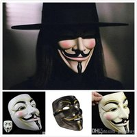Vente en gros Masquerade V Masques pour Halloween Masque à bille Full Face Movie Props Mardi Gras Scary Horror Party Costume pour Vendetta Mask for Sale