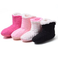 Wholesale Indoor Floor Socks - Wholesale-Warm Home Slippers 2016 New Korea Style Flower Lovely Home Shoes,Floor Socks , Indoor Slippers Winter Foot Warmer,4 colors