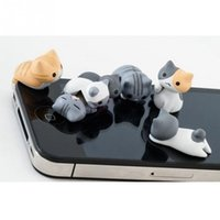 Wholesale Dust Jack Cat - Cute Cat Dust Plug Phone Anti Dust 3.5mm Universal Phone Dust Plug for HTC Samusng iPhone Headphone jack Dustproof Plug