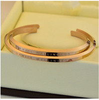 Wholesale Silver Box Chain Bracelet - new DW Bracelets Cuff Rose Gold Silver Bangle 100% stainless steel Bracelet Women and Men Bracelet pulsera