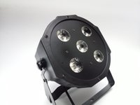 Wholesale Led Par Can Lights - 2017 New 5*18W RGBWA-UV 6in1 LED Par Cans 6 10CH Disco DJ Lighting DMX-512