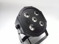 dj iluminação led dmx venda por atacado-2017 Novo 5 * 18 W RGBWA-UV 6in1 LED Par Latas 6 / 10CH Disco DJ Iluminação DMX-512