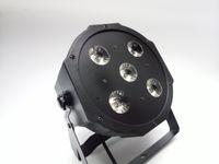 yeni led disko ışıkları toptan satış-2017 Yeni 5 * 18 W RGBWA-UV 6in1 LED Par Kutular 6 / 10CH Disko DJ Aydınlatma DMX-512