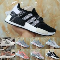 Wholesale Hard Plastic Boxes - 2017 New Original NMD Runner Shoes NND R1 Monochrome Mesh Primeknit Discount Cheap Women Men Running Shoes Sneakers Sports Shoes With Box