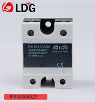 módulo de relé único al por mayor-Serie LDG RM Monofásico AC SSR Relé de estado sólido RM1E40AA25 Corriente de operación 25A Voltaje de operación 400 VCA Módulo de relé
