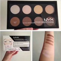Wholesale Face Wondering - NEW NYX Highlight & Contour Pro Palette Powder 8 Shadow Foundation Face Palette NYX Contour vs NYX Wonder Stick