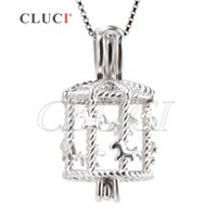 Wholesale Merry Christmas Pendant - New Arrival 3pcs sterling silver Merry Go Round cage pendant for women, for child, for girls, 20.8*11.2*11.4mm