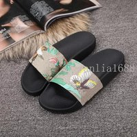 Wholesale Mint Tie - 2017 mens and womens fashion animal bee tiger printing leather slide sandals male female beach slippers size euro 35-45