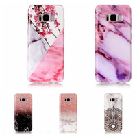 Wholesale Galaxy S3 Clear Gel Case - Flower Lace Marble Soft TPU IMD Case For Galaxy S8 Plus S7 Edge S6 S5 S4 S3 Rock Granite Hybrid Silicone Gel Stone Fashion Natural Skin