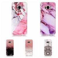 Flower Lace Marble Soft TPU IMD Case pour Galaxy S8 Plus S7 Edge S6 S5 S4 S3 Rock Granite Hybride Silicone Gel Stone Fashion Natural Skin