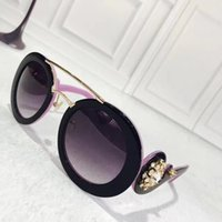 Wholesale Full Shapes - Free shipping fashion Luxury sunglasses round shape fashion big face retro vintage summer style women brand designer come with case