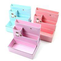 Wholesale Paper Board Storage Box - New Paper Board Storage Box Desk Decor Stationery Makeup Cosmetic Organizer Case Free Shipping