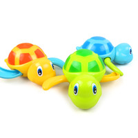Wholesale Little Girls Toys - Wholesale- 1pc Baby Toys Little Turtle Bath Toys Swimming Animal Water Toys for Boys Girls Children High Quality