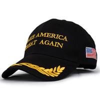 Wholesale Protection Usa - Make America Great Again Donald Trump Hat Cap Republican 2016 US Trump For President USA Snapback