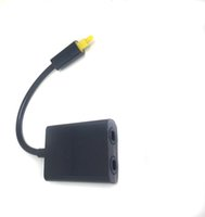 Wholesale Digital Toslink Optical Fiber Audio Splitter Splitters to Cable Cord Adapter Black