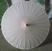 Wholesale Oil Painting Bamboo - Diamter 60cm 23.6 Inches Chinese Craft Bamboo Oiled Paper Umbrella Wedding Supplies DIY Painting Paper Parasol