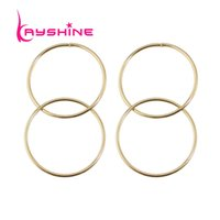 Wholesale Punk Rock Earrings - Kayshine Punk Rock Style Gold-Color Circle Geometric Party Dangle Statement Earrings Fashion Accessories