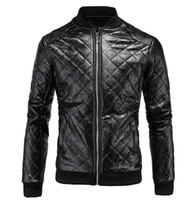 Wholesale Man the spring and autumn period and the han edition of the new trend of fine personality with thick diamond leather coat L xl